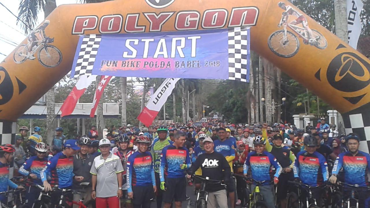 Fun Bike Meriahkan HUT Bhayangkara Ke-72 di Babel | Redaksi Babel